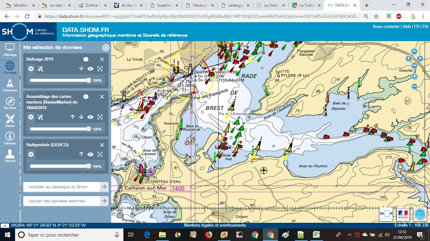 Une nouveauté sur le site du SHOM : la cartographie des balises