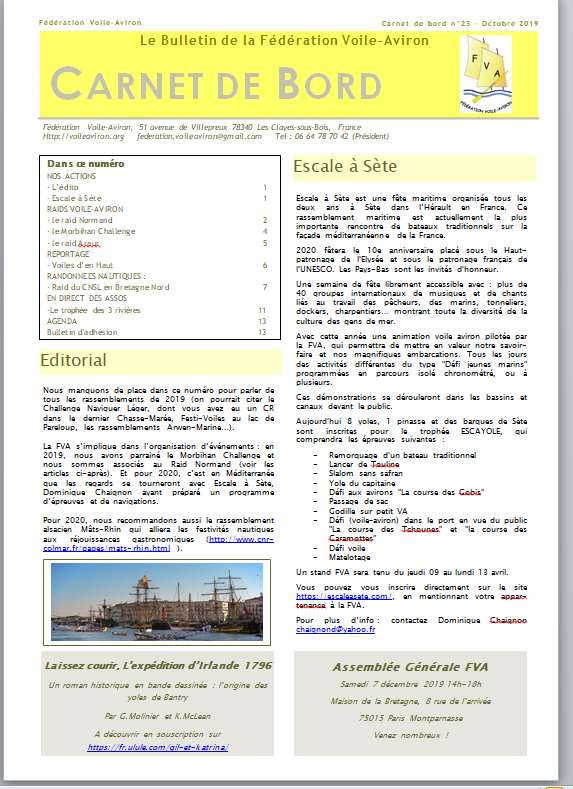Le bulletin n°23 de la FVA vient de paraître