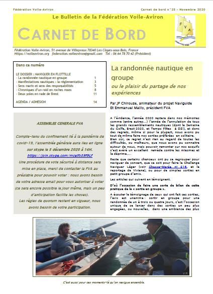 Le «carnet de Bord» n°25, bulletin de la FVA, est paru (Novembre 2020)