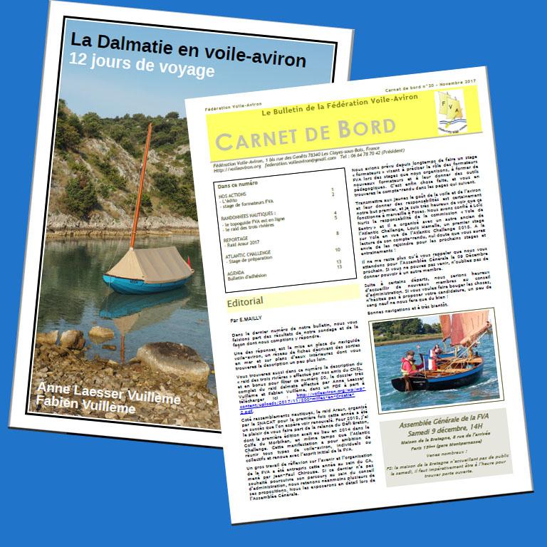 Read more about the article Plein d'infos dans le Bulletin FVA n°20 et son supplément «la Dalmatie en Voile-aviron»