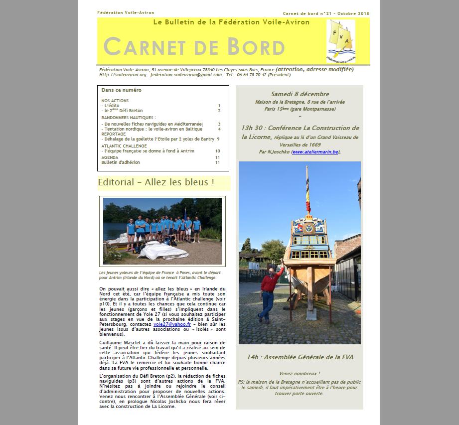 Read more about the article le nouveau bulletin de la FVA vient de paraître